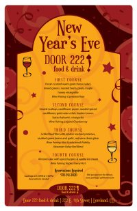 Door 222 2017 New Year's Eve Flyer